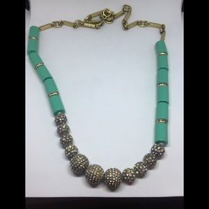 Statement Crystal and Blue Necklace